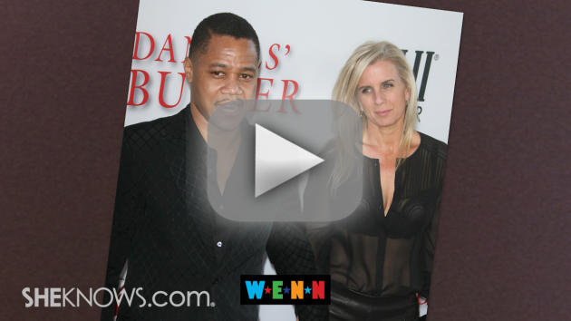 Sara Kapfer and Cuba Gooding, Jr.