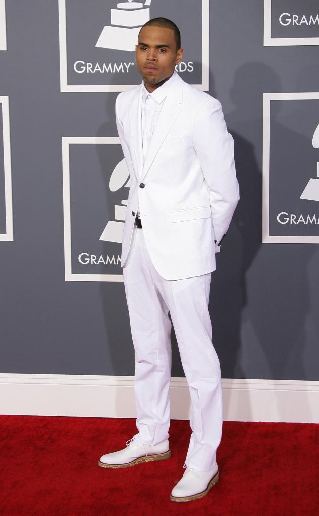 Chris Brown at 2013 Grammys