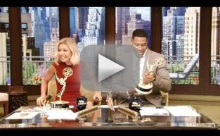 Kelly Ripa and Michael Strahan Celebrate Daytime Emmy Awards Win