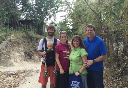 Jim Bob and Michelle Duggar with Jill, Derick and Israel Dillard