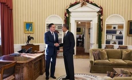Obama, Romney White House Lunch