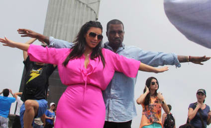 Kim Kardashian and Kanye West Pose Like Jesus