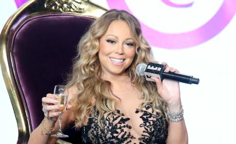 Mariah Carey with Champagne