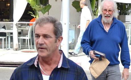 Mel Gibson and Some Sketchy Old Guy