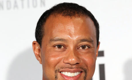 Smiling Tiger Woods