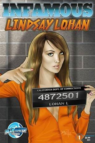 Lindsay Lohan Comic Book Cover