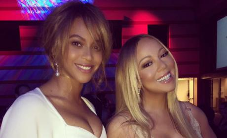Beyonce and Mariah Carey Look STUNNING Together at LA Benefit