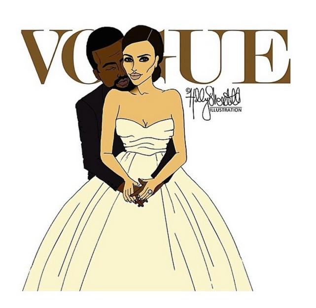 Kim Kardashian-Kanye West Vogue Cover Recreation
