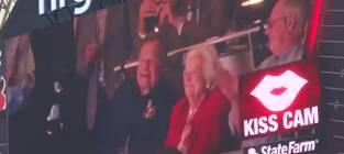 George H.W. Bush and Barbara Bush: Caught on the Kiss Cam!