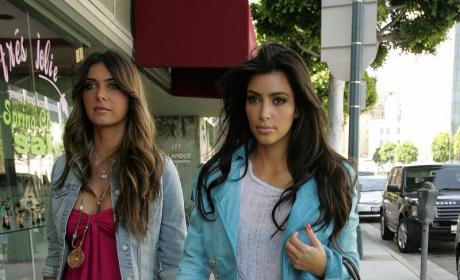 Kim Kardashian and Brittny Gastineau Hit Beverly HIlls