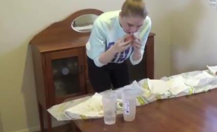 Model Devours 5-Foot Long Sandwich in 9 Minutes, 17 Seconds