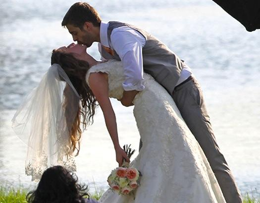 Jill Duggar Wedding Pic: First Kiss!