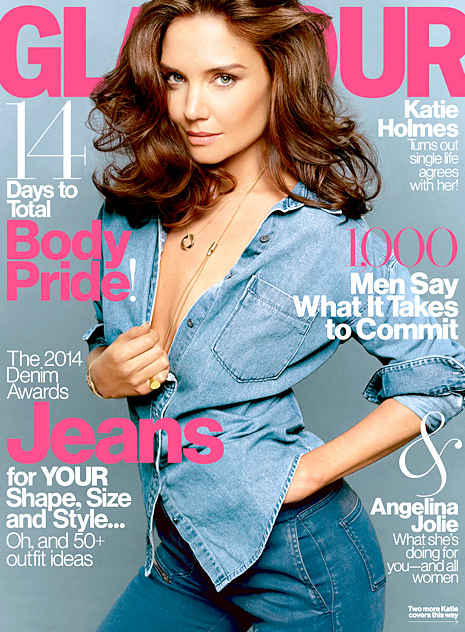 Katie Holmes Glamour Cover