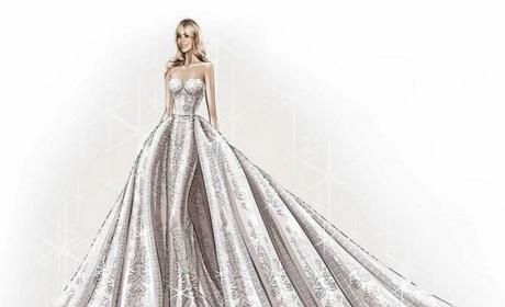 Zuhair Murad Sketches Sofia Vergara Wedding Gown