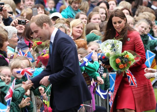 Prince William, Kate Middleton Shake Hands