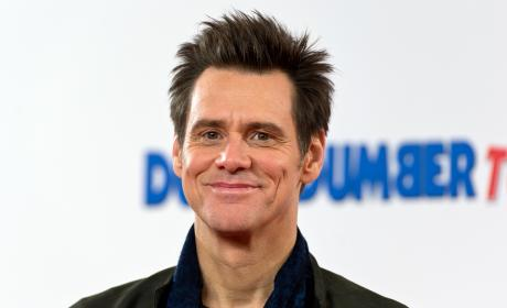 Jim Carrey Dumb and Dumber To Photocall Pic