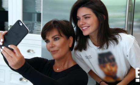Kris and Kendall Selfie