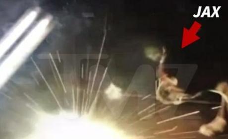 Jenelle Evans Tells Dog to Fetch LIT FIREWORK: Watch!