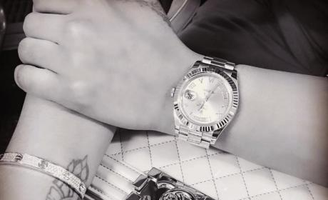 Blac Chyna Shows off Cartier Love Bracelet, Rolex and a Chanel Purse