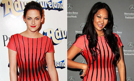 Who wears this dress better, Kristen or Kimora?