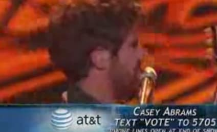 Casey Abrams Does Maroon 5, Kisses Jennifer Lopez