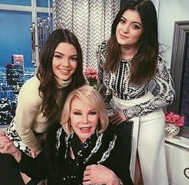 Joan Rivers With Kendall and Kylie Jenner