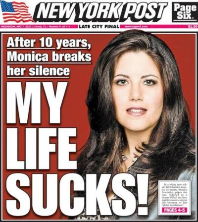 Monica Lewinsky New York Post Headline
