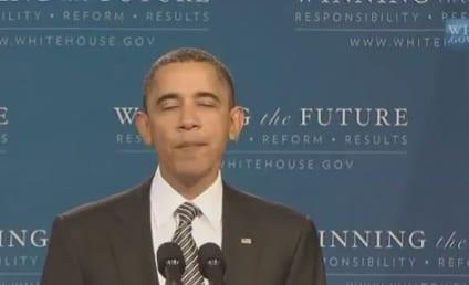 "Barack Obama ""Sings"" Justin Bieber, Pleads to Be Your ""Boyfriend"""