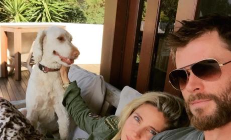 Chris Hemsworth and Elsa Pataky Pic