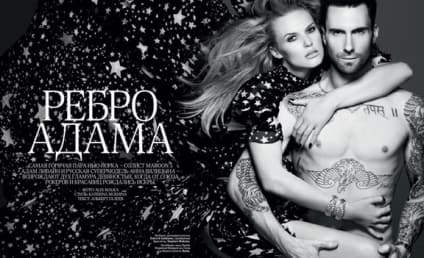 Adam Levine and Anne Vyalitsyna: Nude in Russian Vogue!