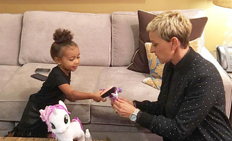 North West and Ellen DeGeneres