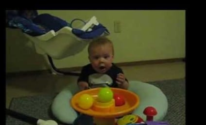 Baby Plays With Ball Popper Toy, Can't Even Handle its Coolness