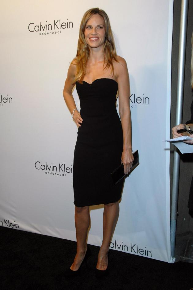 Hilary Swank Little Black Dress
