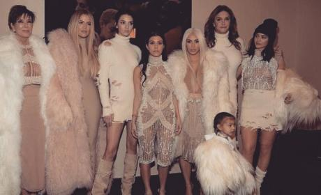 North West at Kanye West's Madison Square Garden Fashion Show