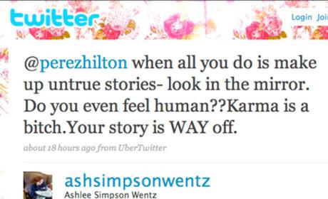 Ashlee Simpson to Perez Hilton: Get Ur Own Life!