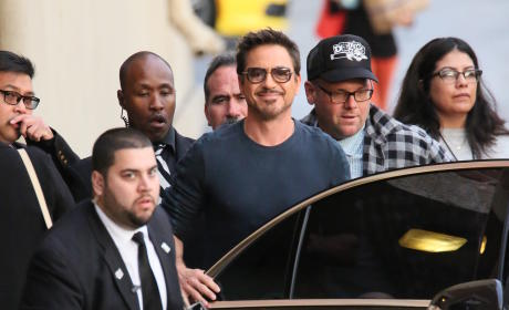 Robert Downey, Jr. Tapes Jimmy Kimmel Live