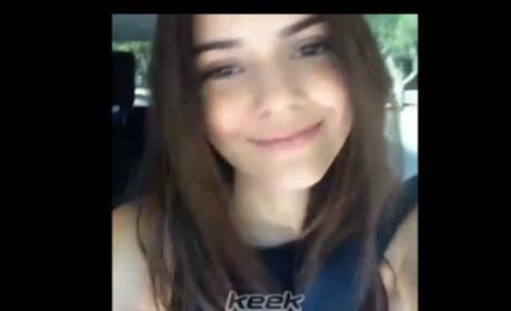 Kendall Jenner Driving Selfies