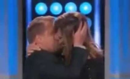Allison Janney Makes Out with James Corden!