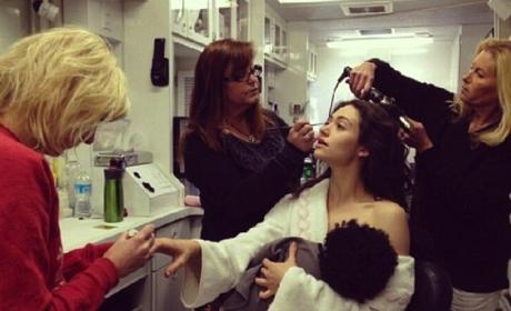 Emmy Rossum Mocks Gisele Bundchen Breastfeeding Photo on Shameless Set