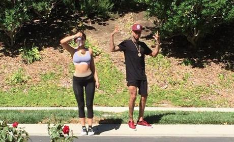Kylie and Tyga Work Out