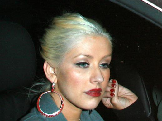 Christina Aguilera Blue Hair