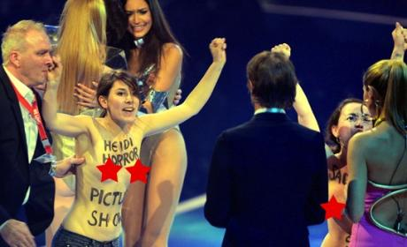 Topless Women Protest Heidi Klum on Germany's Next Top Model