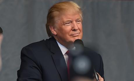 Donald Trump Soaks It in