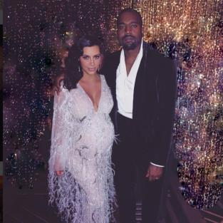 Kim Kardashian and Kanye West: Kris Jenner's 60th Birthday Party
