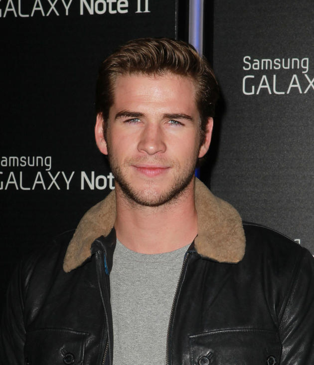 Liam Hemsworth Smirking