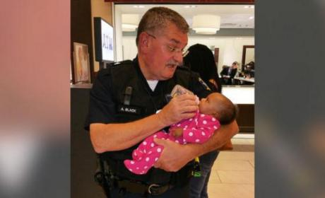 Photo of Cop Feeding Seizure-Stricken Mom's Baby Goes Viral