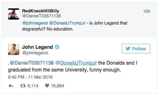 John Legend education tweet