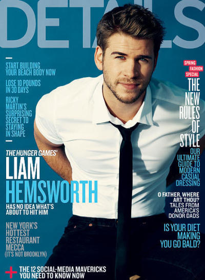 Liam Hemsworth Details Cover