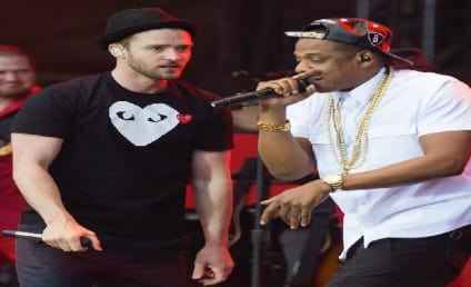 """Jay-Z and Justin Timberlake Debut """"Holy Grail"""" in England"""