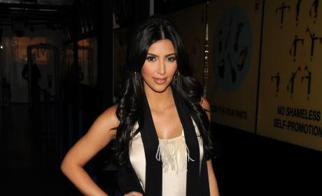Kim Kardashian Visits MTV's TRL in 2008